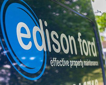 Edison Ford logo on one of our vans